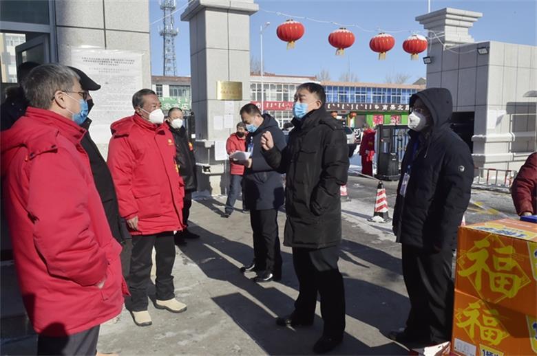 华北二连分公司领导看望慰问防控一线值班人员